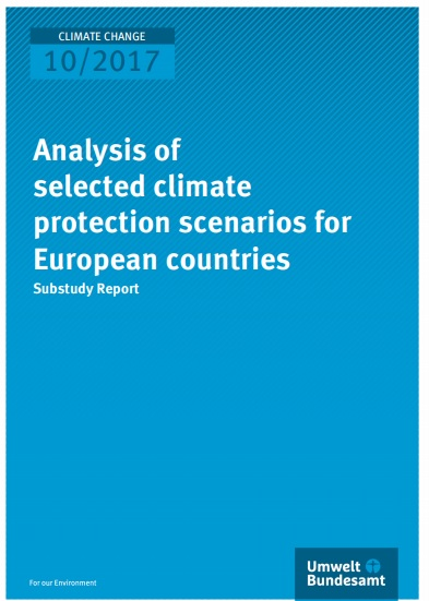Analysis of selected climate protection scenarios for European countries Substudy Report