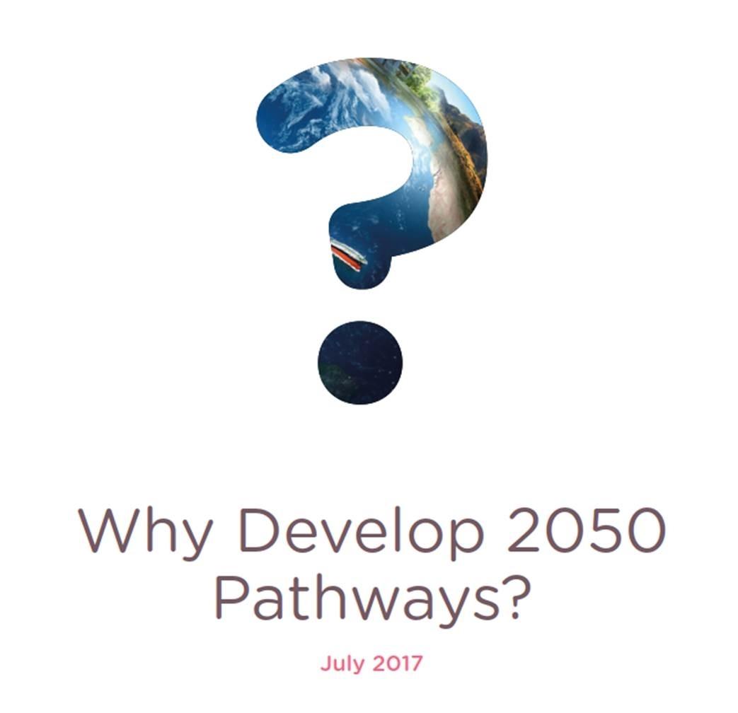 WHY DEVELOP 2050 PATHWAYS?
