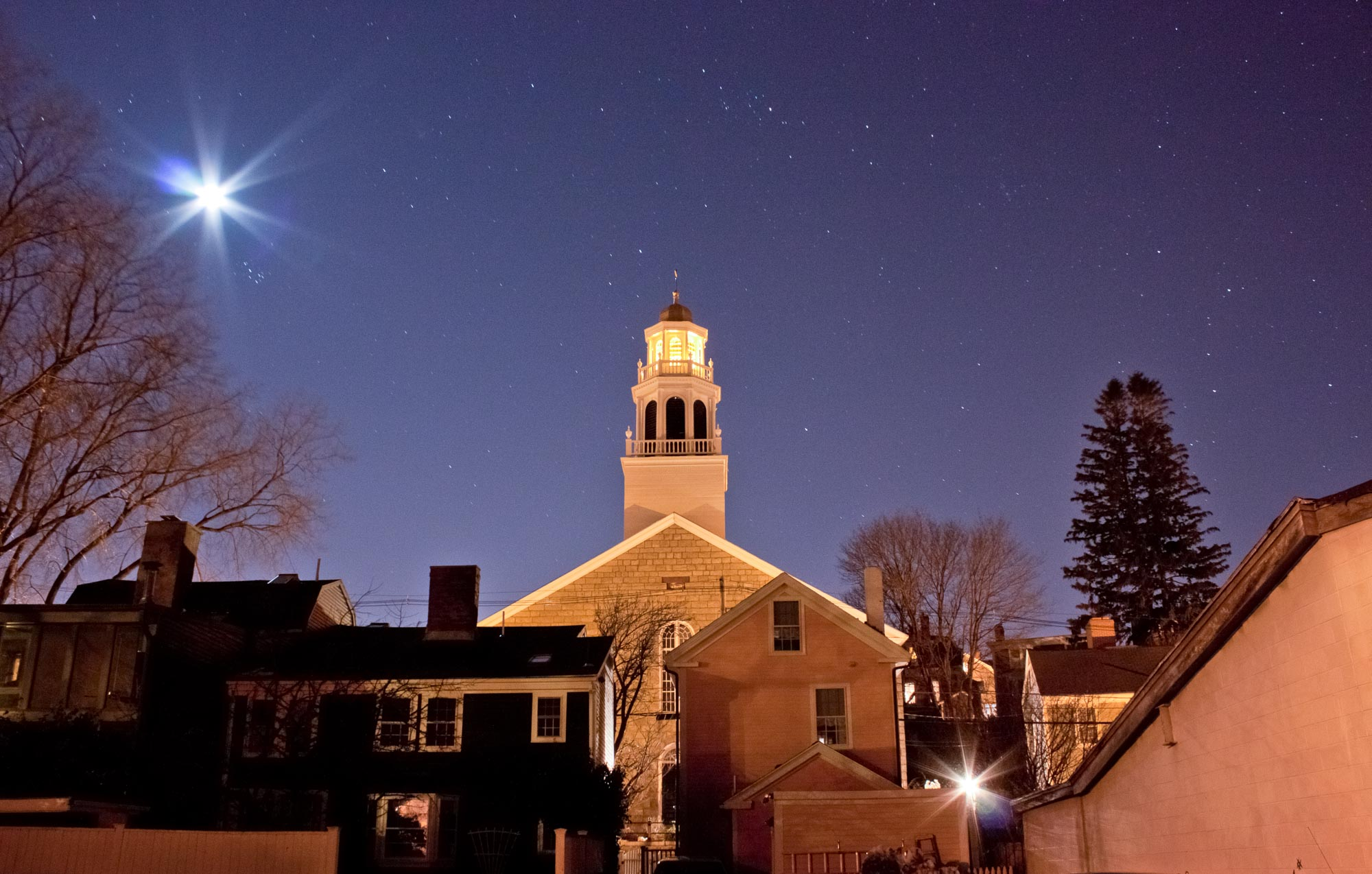 Old North Church ~ Starry Night