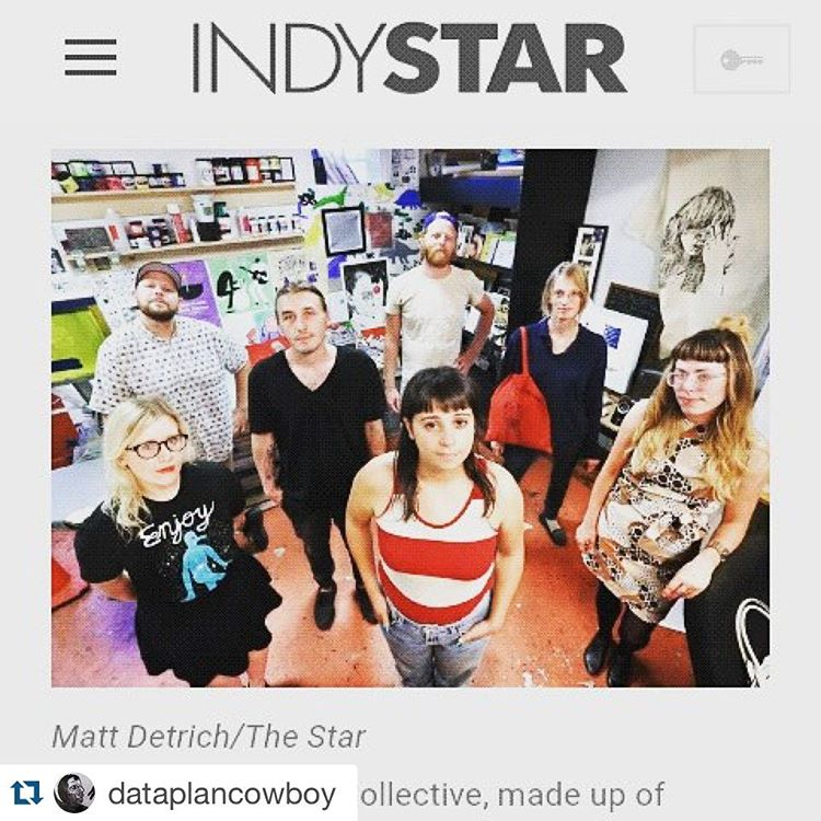 Congrats to  @dataplancowboy and @generalpubliccollective who created our incredible #beepublic t-shirt design.                     #Repost @dataplancowboy  ・・・  Pumped to be featured as @indystar Fall Arts Guide's 7 emerging artists to watch this fall @generalpubliccollective #family #tribe #fsdc