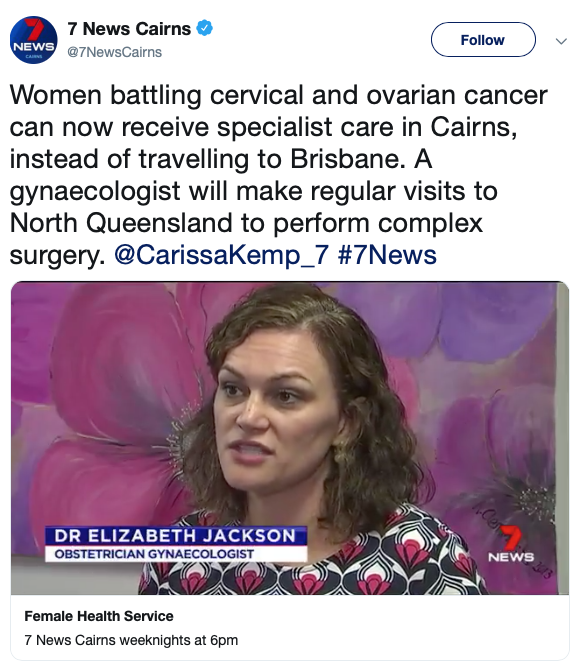 Dr Liz jackson interviewed by channel 7