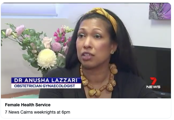 Dr Anusha lazzari interviewed by channel 7