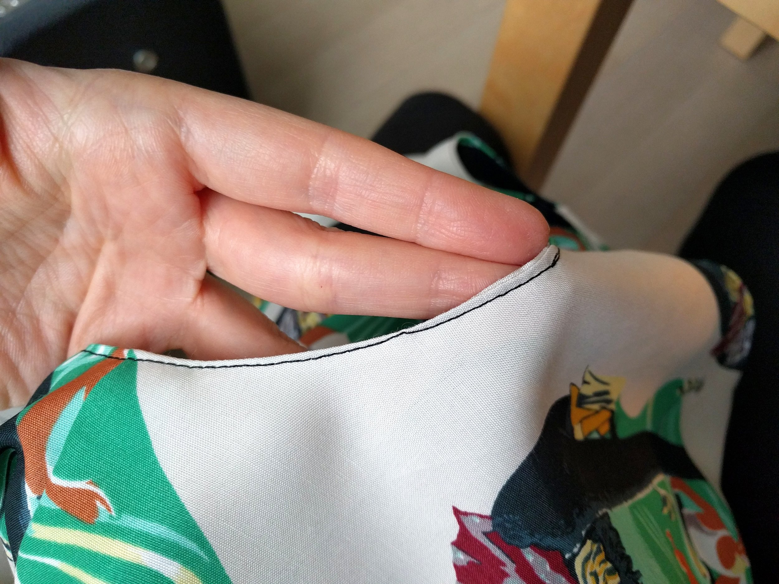 This finishing seam kinda sucks. But you know who cares? Not this gal.