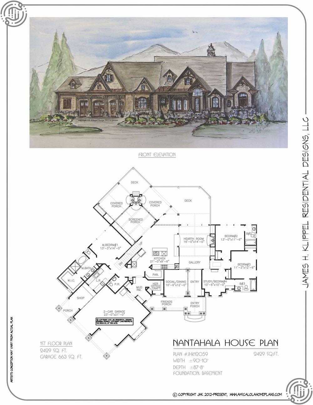 Nantahala House Plan — Rustic Mountain House Plans ... on blue ridge home plans, horseshoe home plans, madison home plans, linville home plans, newport home plans, hudson home plans, marshall home plans, linwood home plans, franklin home plans, alexander home plans, washington home plans,