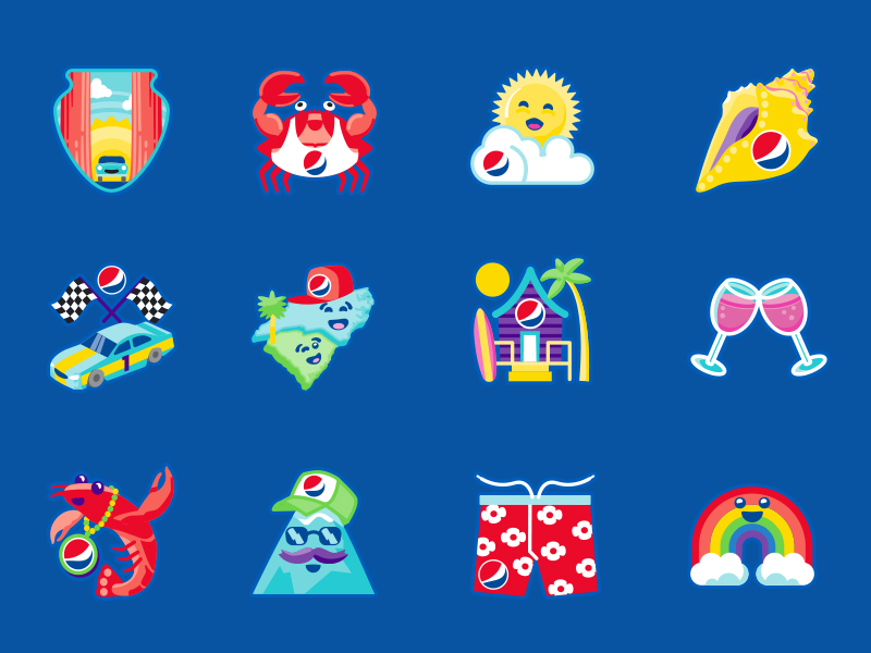 Summer Soda Icon Design: Set 1
