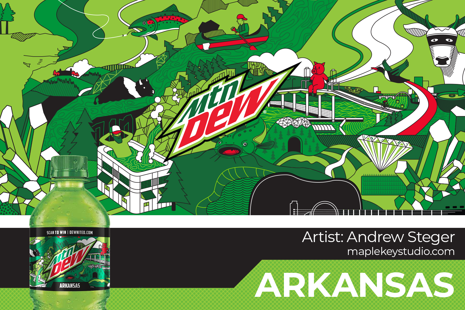 Limited Edition: Arkansas Bottle Design