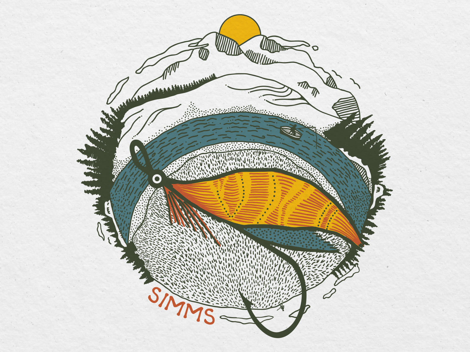 Concept artwork for Simms Fishing