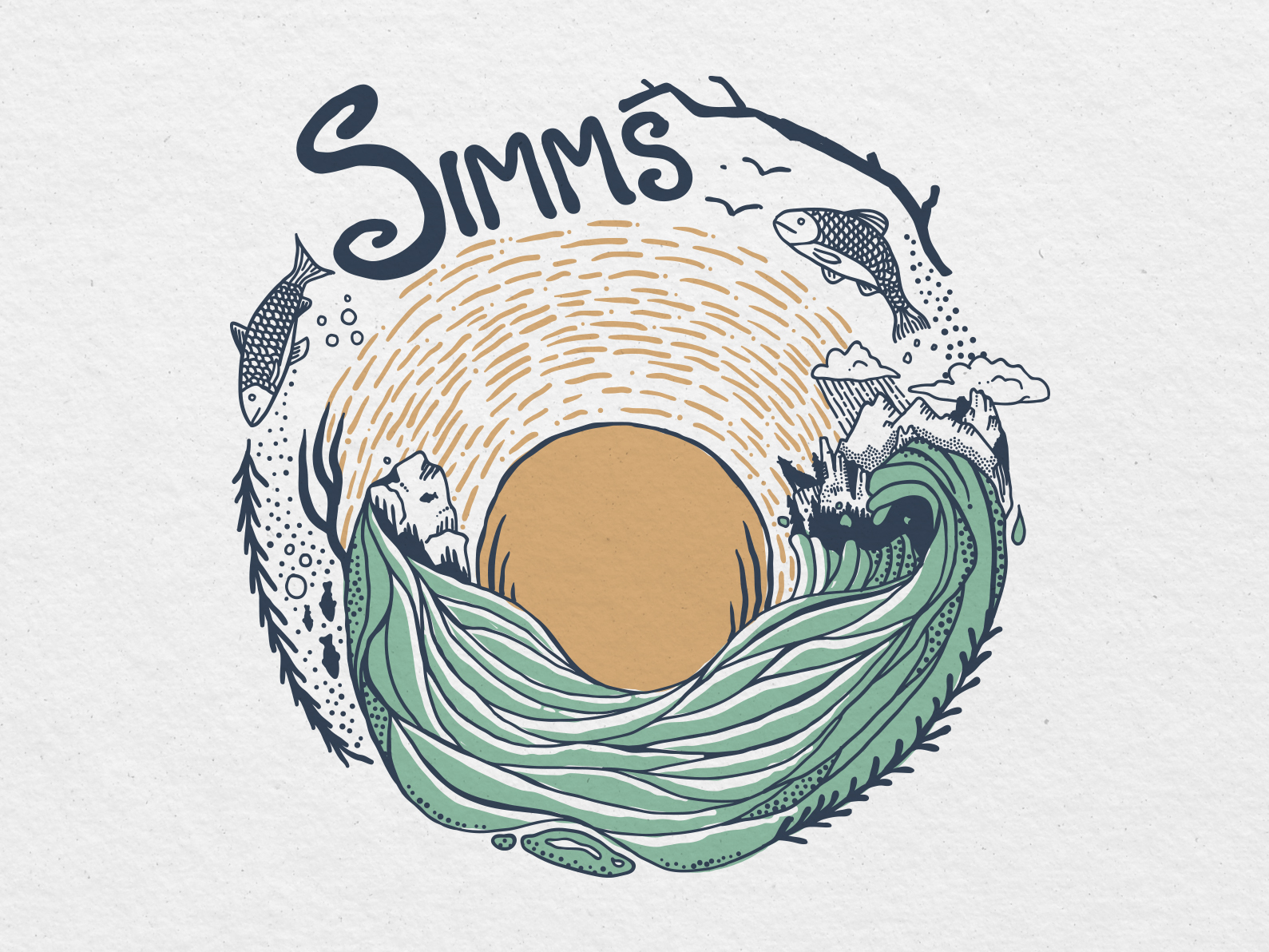 Concept work for Simms Fishing