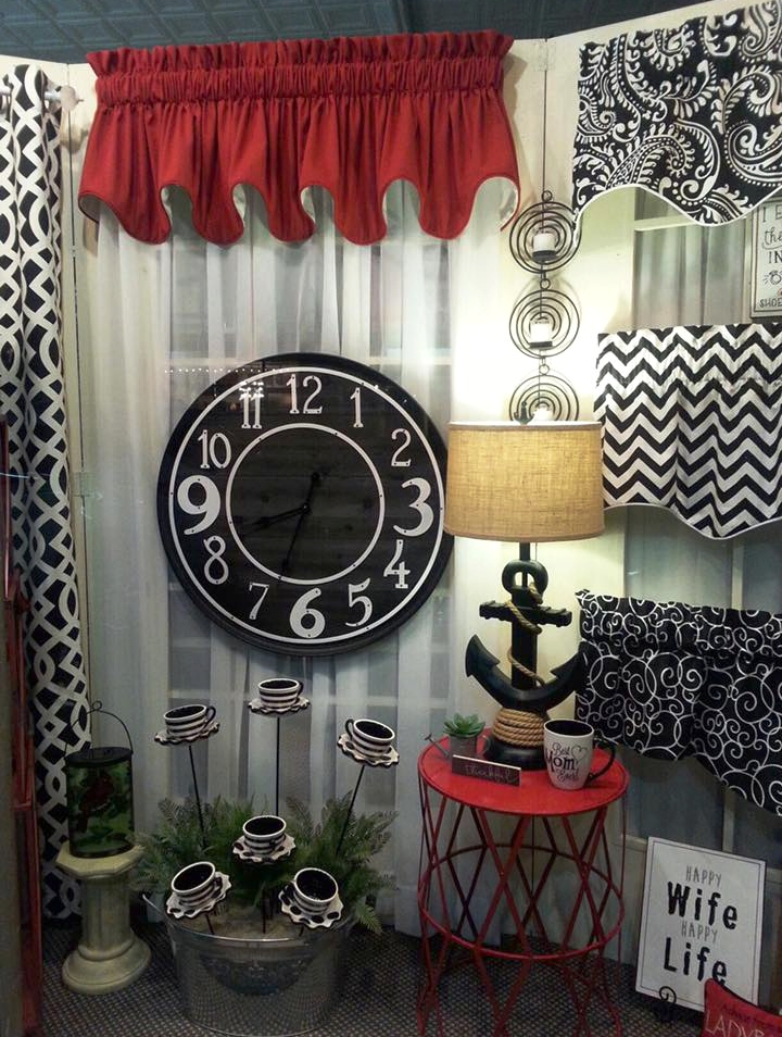 Front Window Display- Red and Black