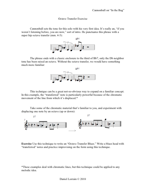 Octave Transfer Exercise