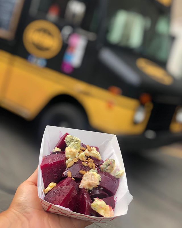 Tonight at @knowgoodmarket...⁣#feastup ⁣ Roasted @subedgefarm Beets | @catocorner Blue Cheese | Sunflower Seeds