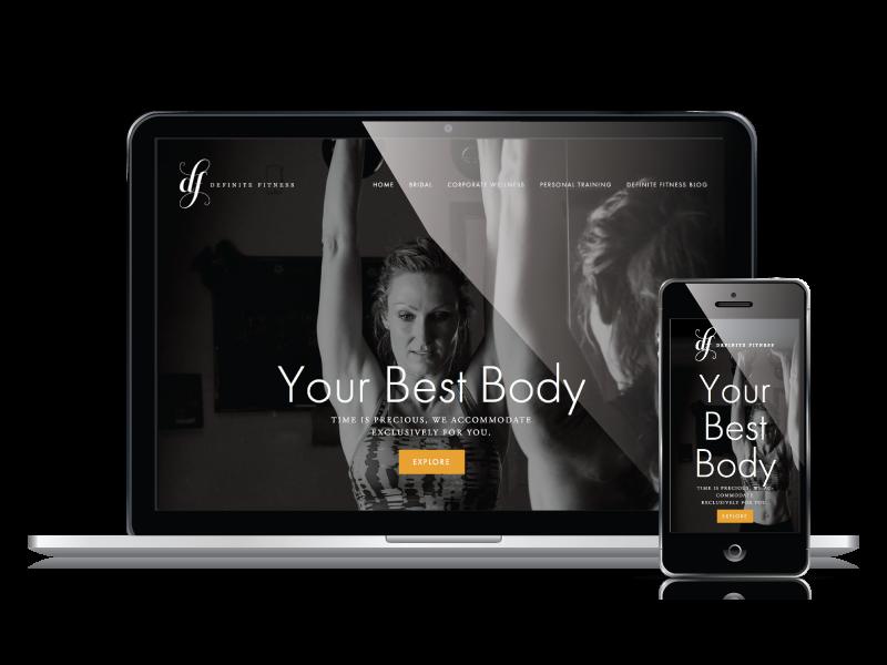 Definite Fitness Responsive Website Design