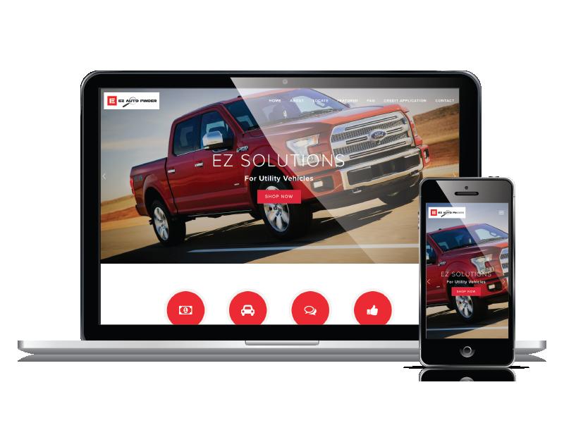 EZ Auto Finder Responsive Website Design