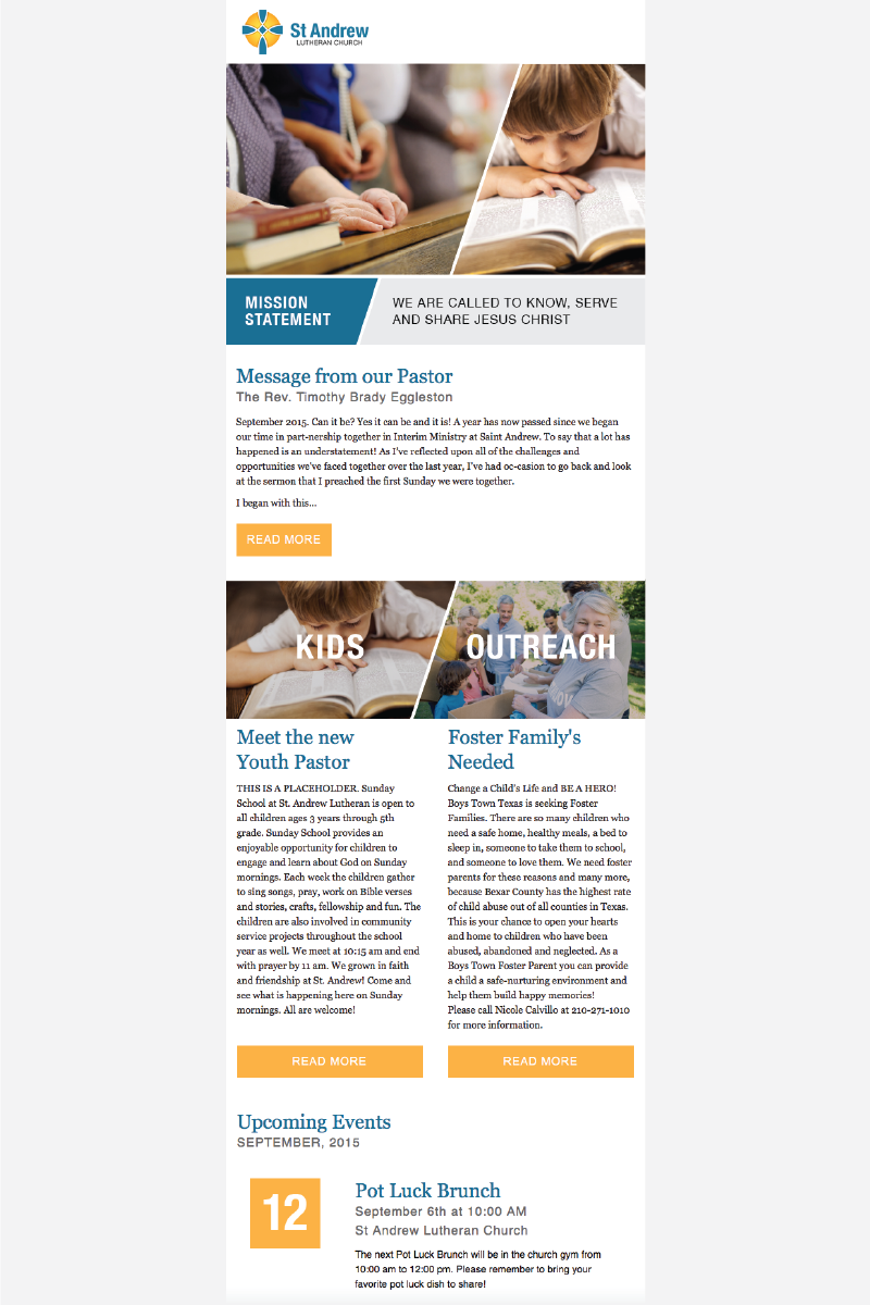St Andrew Monthly Newsletter Design