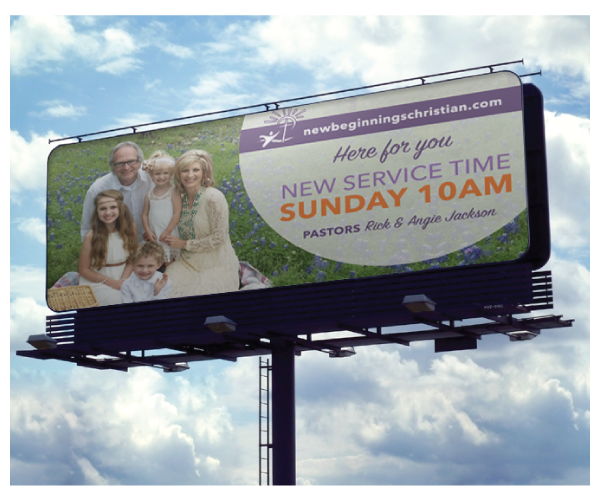 New Beginnings Church Billboard Design