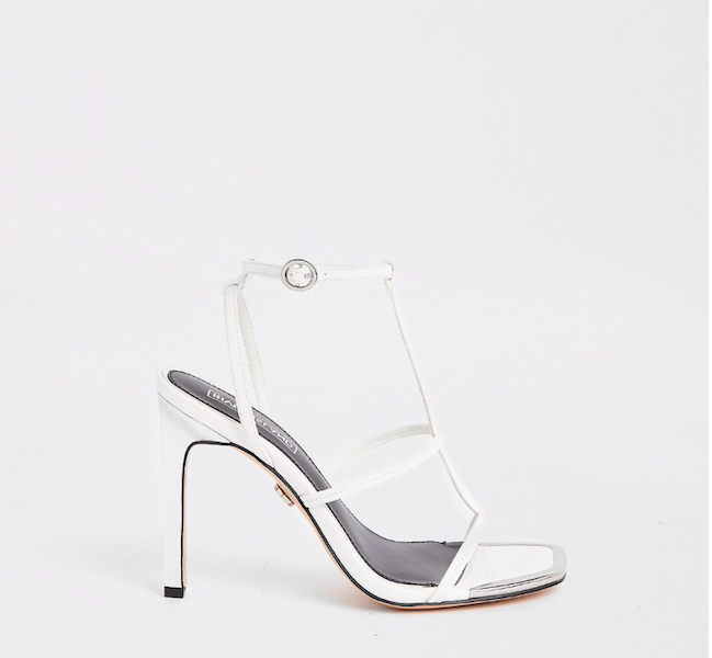 White Strappy Heels, £40, River Island