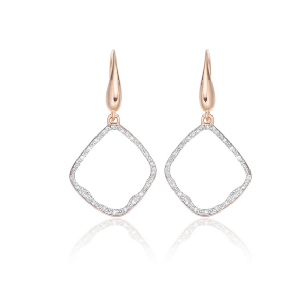 Riva Diamond Hoop Earrings.   Monica Vinader