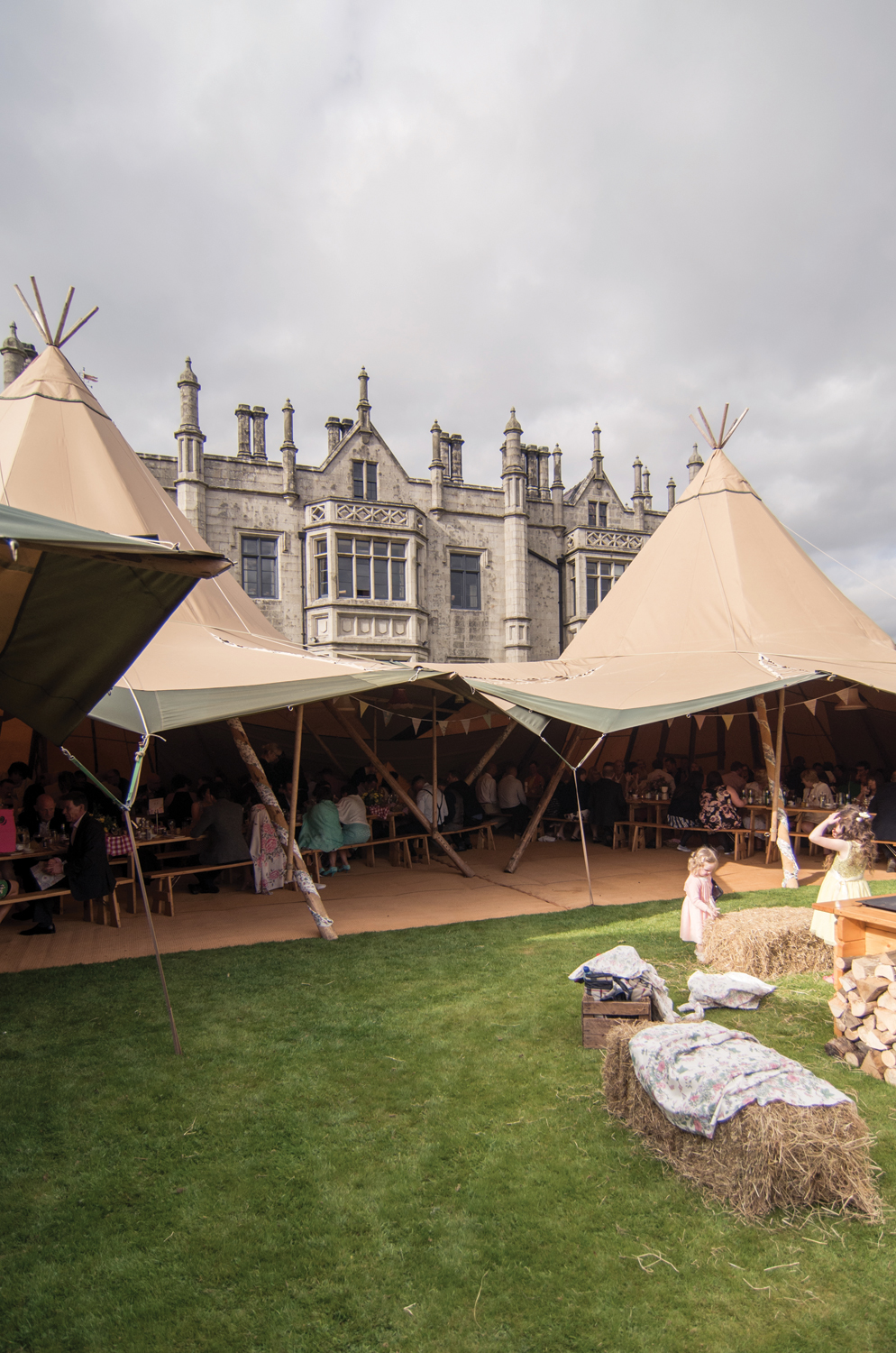 Tipi Tents…. Transform an outdoor space into an alternative indoor reception room. It really is the best of both worlds.  Image Credit   Root and Branch