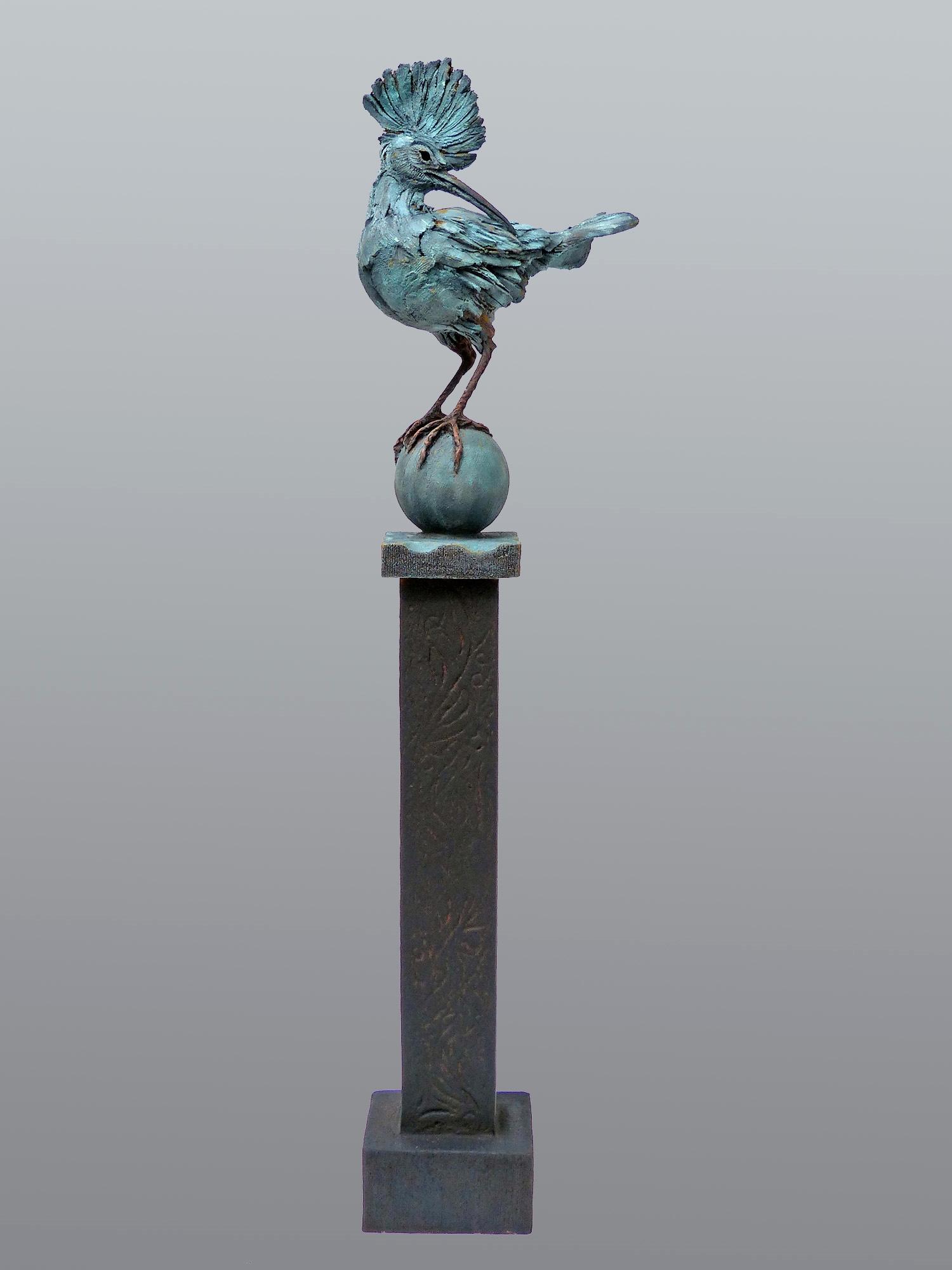 Hoopoe-on-Pole  ©   Text☰