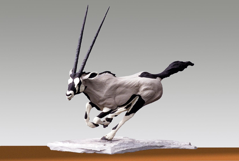 Oryx  ©  43 cm high x 38 cm wide  Unique