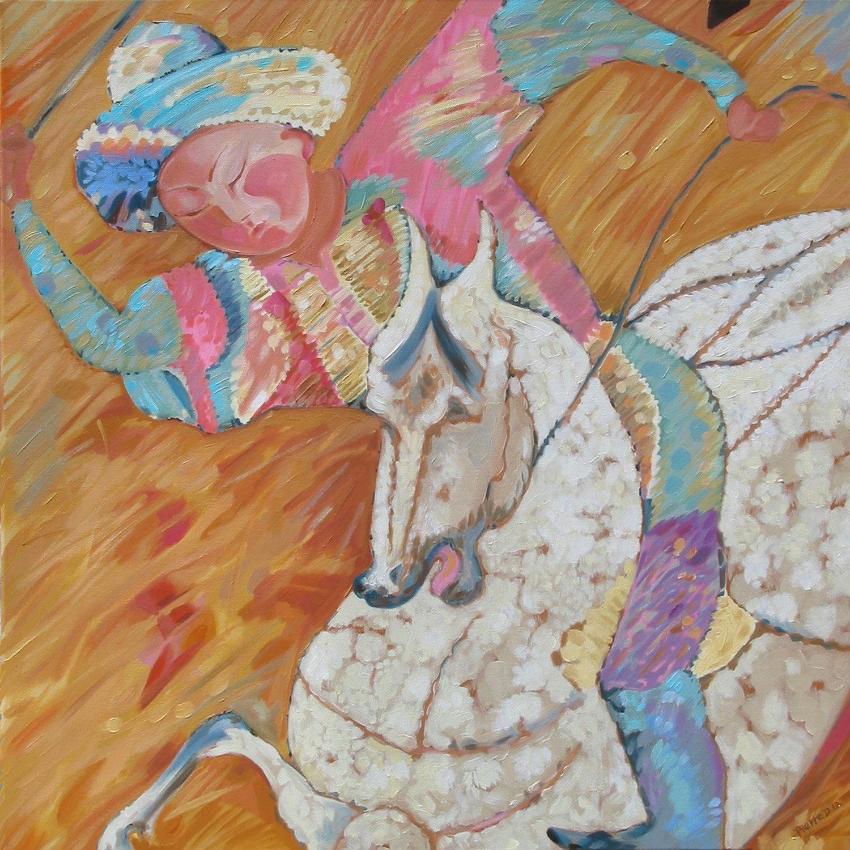 Persian II Jeu des Rois (Top Centre) ©  Oil on canvas  76 cm high x 76 cm wide