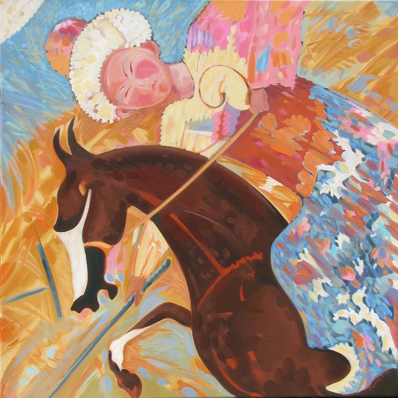 Persian VI Jeu des Rois (Bottom Right) ©  Oil on canvas  76 cm high x 76 cm wide