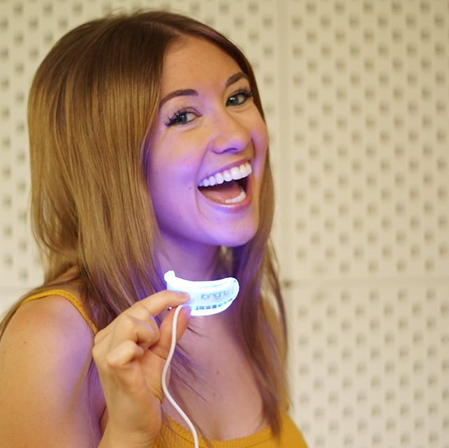 """Ever thought to yourself, """"If only my teeth were as white as my legs...""""? FEAR NOT. BleachBright's got an LED whitening product to solve this issue! Use my code, ALISHA80, at www.bleachbright.com/shop and receive 80% off. HECK YA BABBEYY #ibright #teethwhitening"""
