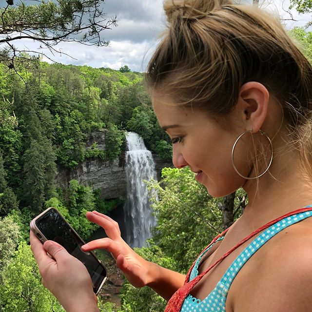 Just connecting with nature...lol