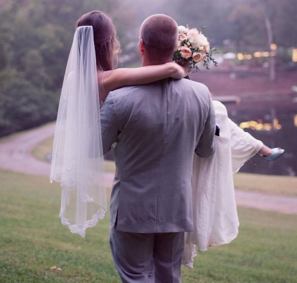 """Lacey"" Bridal Veil"