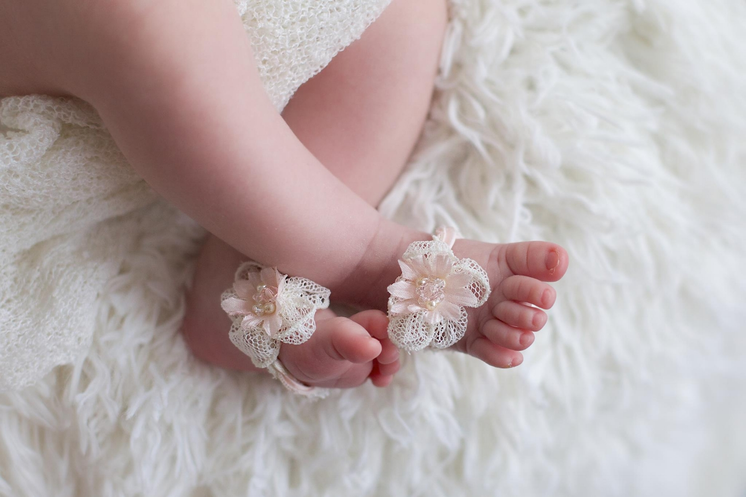 """Peaches"" Infant Footless Sandals"