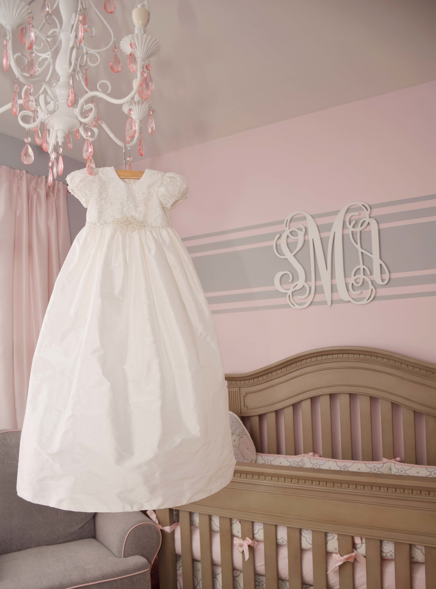 Silk and Lace Christening Gown
