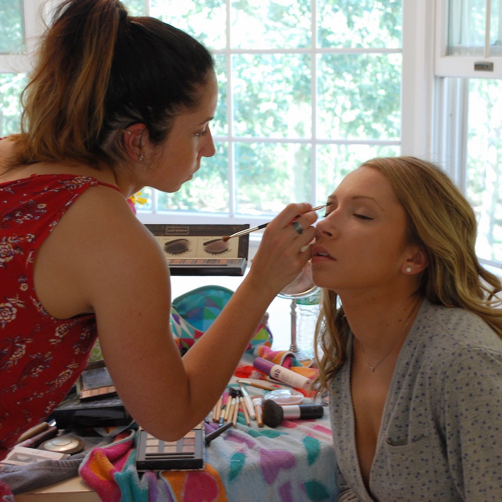 Aubrey...sister, maid of honor, make-up artist, hairstylist...and  The Bride Trainer