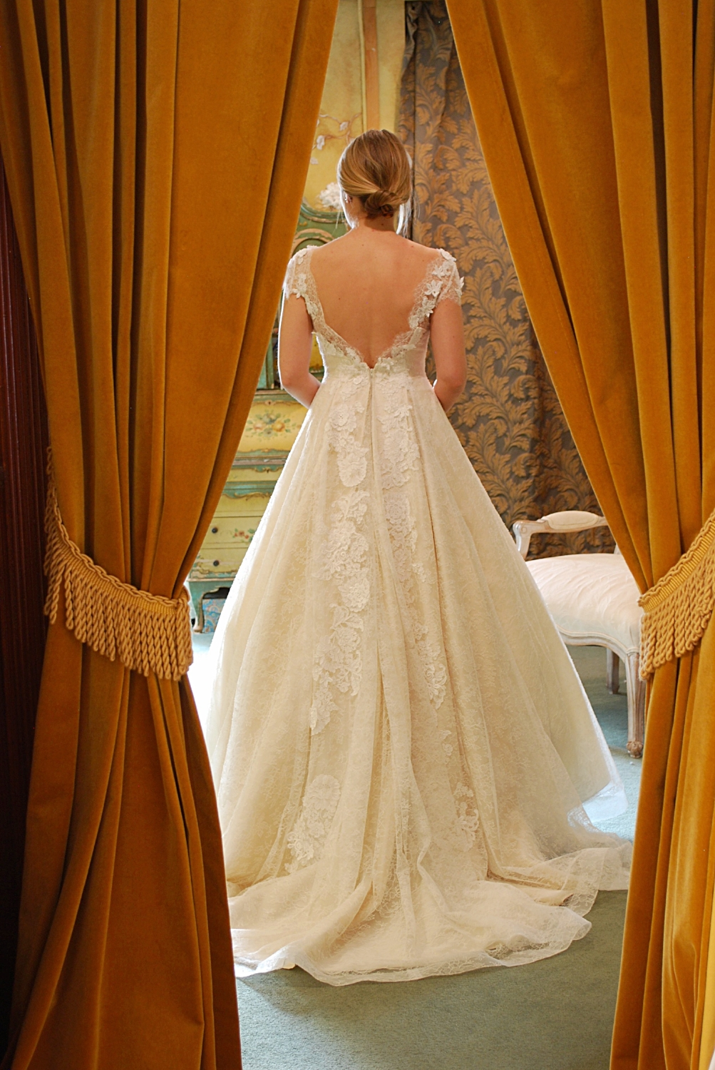 """Lee-Ann Belter's """"Judith"""" gown left me breathless! I still react that way everytime I look at these two pictures of Brielle."""