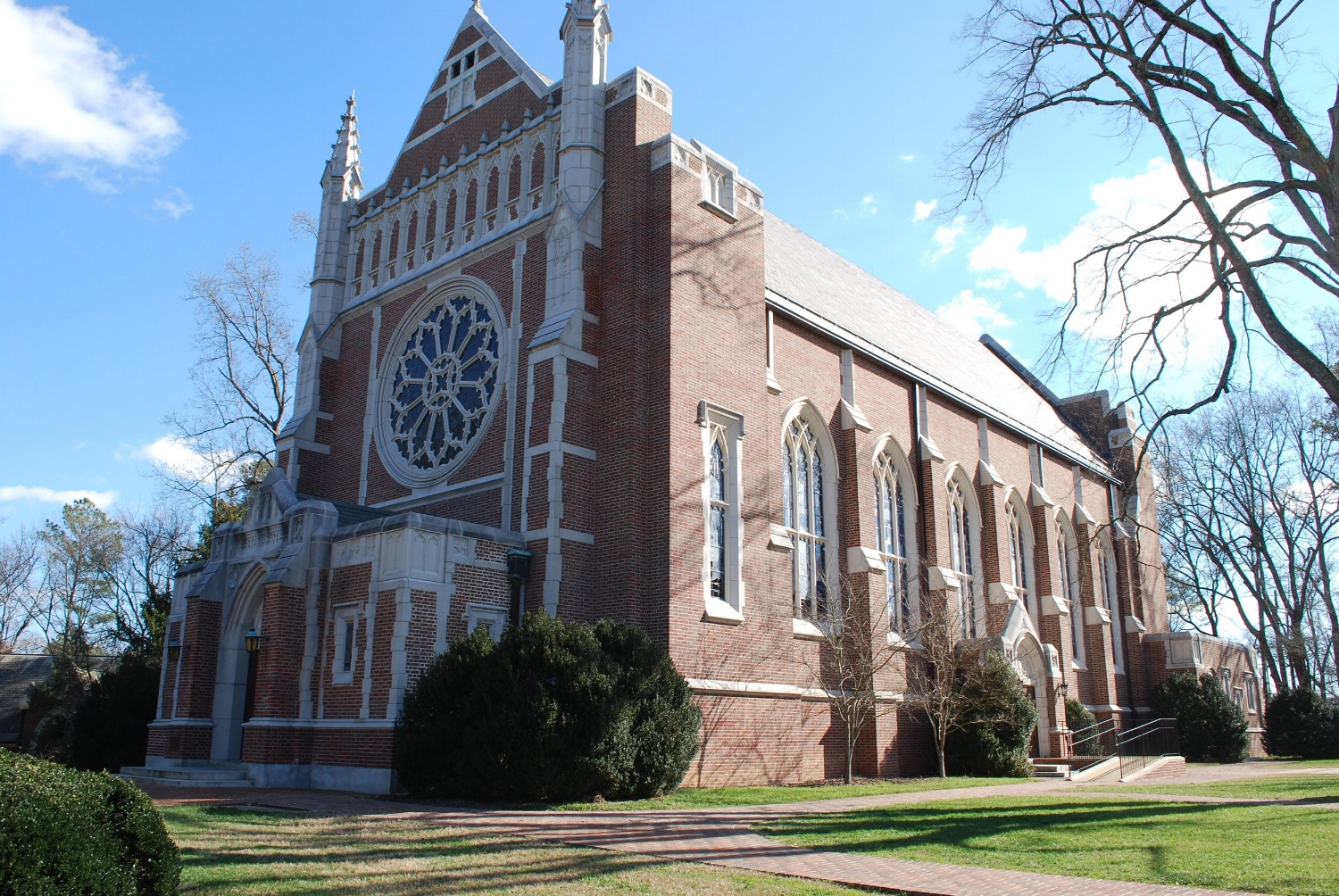Henry M. Cannon Memorial Chapel on the campus of University of Richmond.