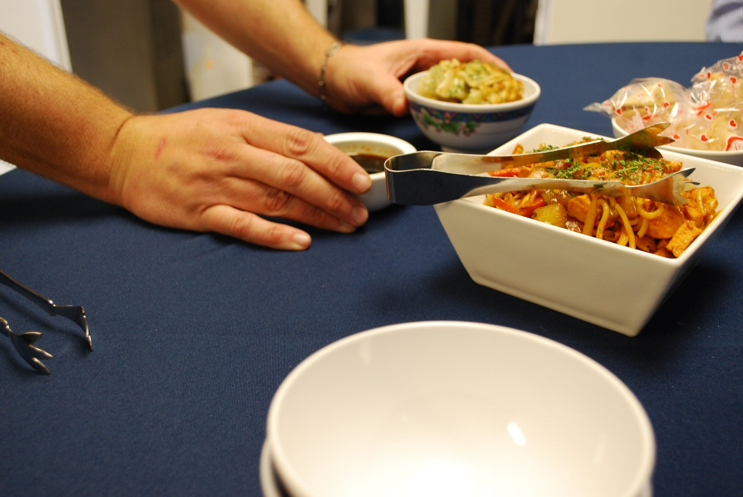 Chef McCauley prepares Lo Mein and offers our fortunes. Could Garnish be in our future?