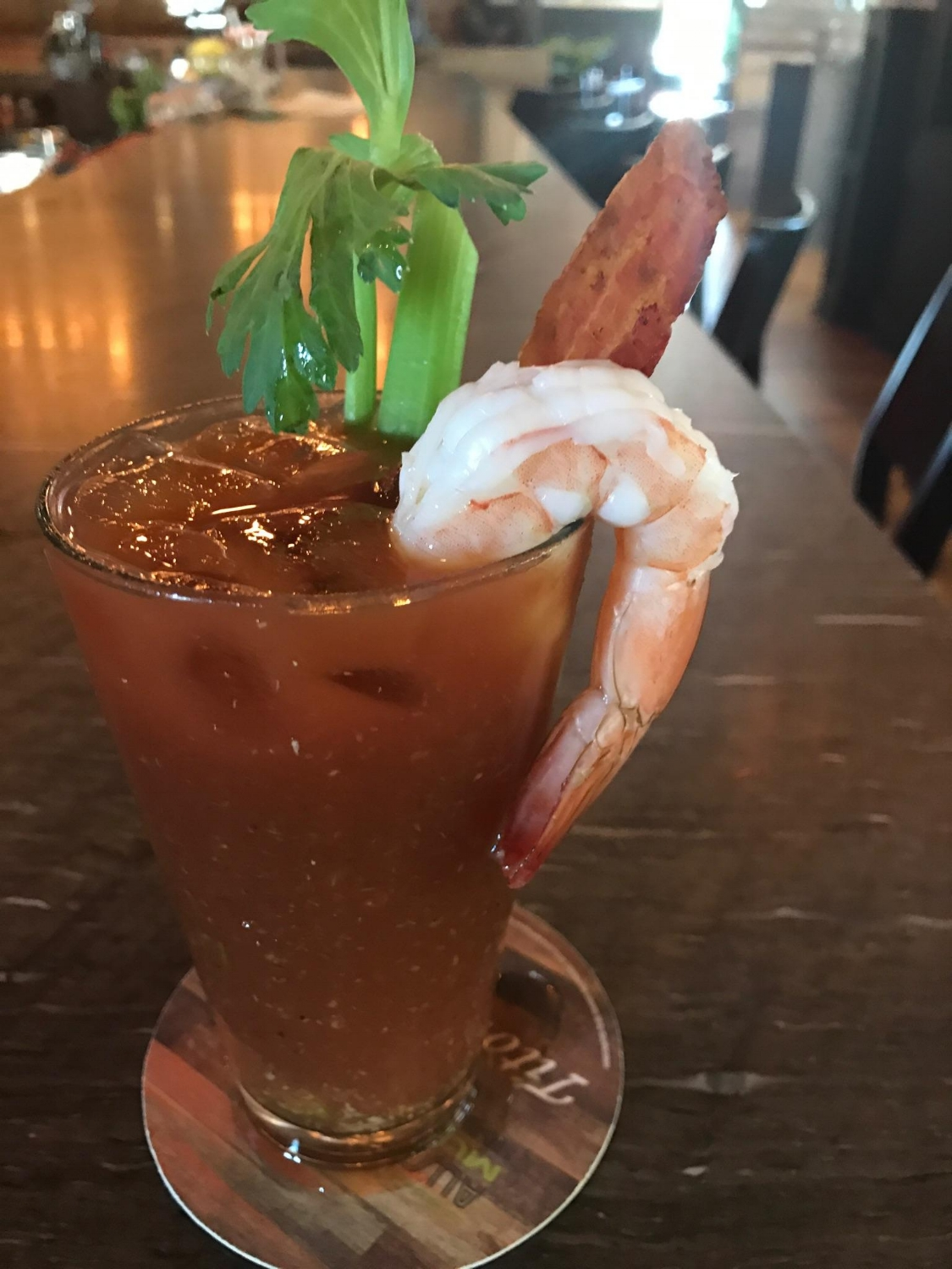 How about some Bloody Mary with your shrimp and bacon?