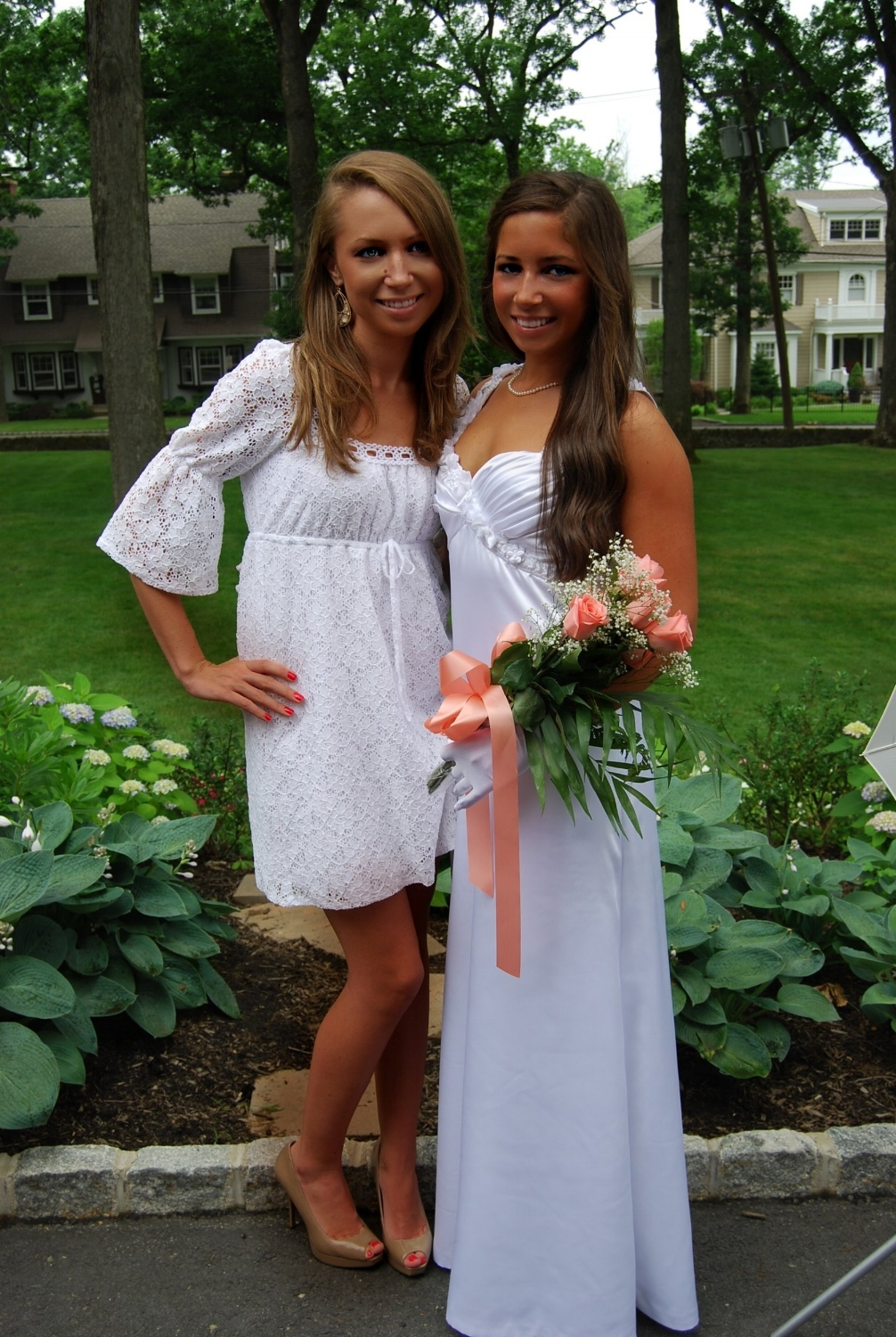 Brielle graduated from Oak Knoll School in 2007 and Aubrey followed in June of 2011. I had the pleasure of designing white graduation gowns for both Brielle and Aubrey.