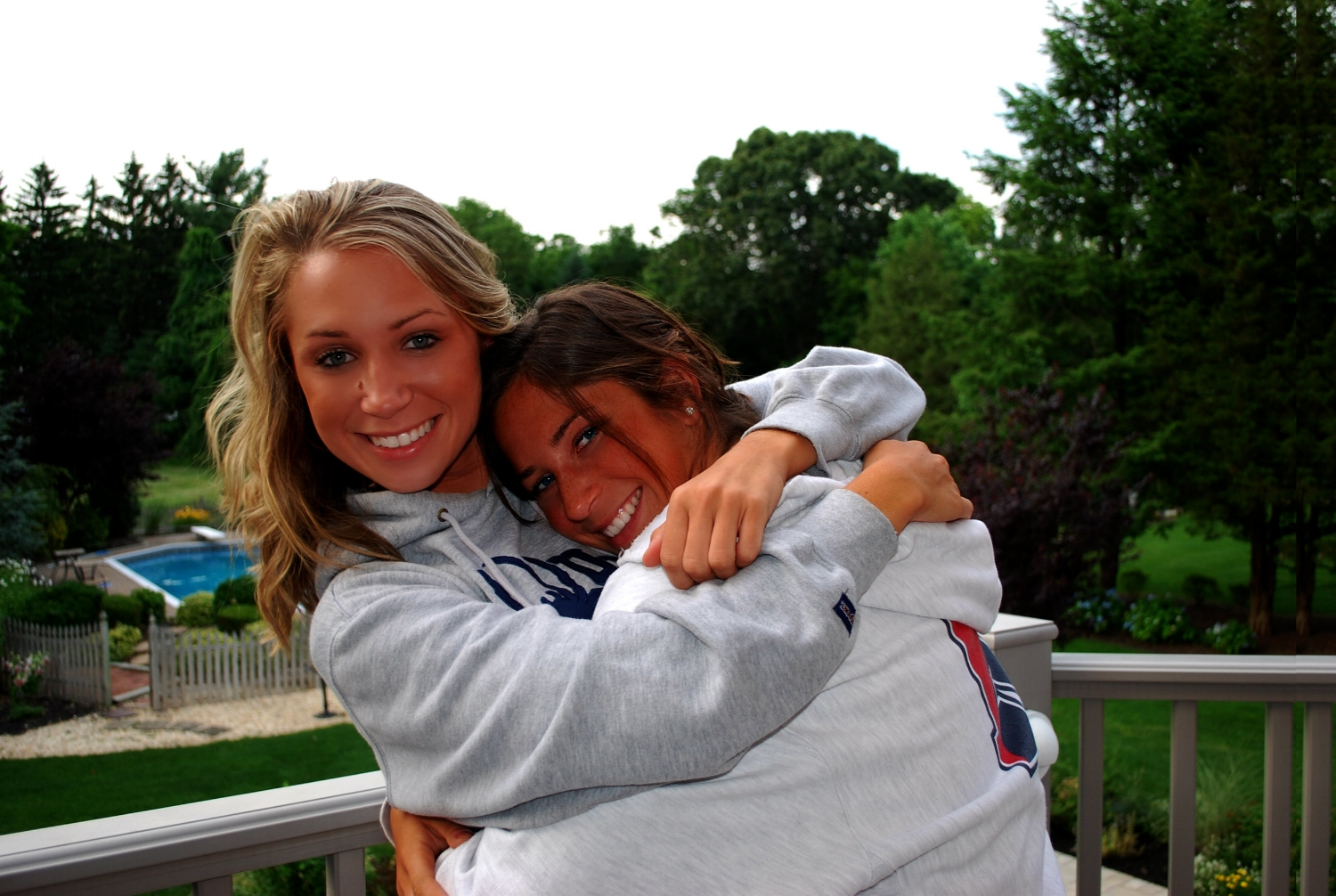 I believe there is no better gift than having my kids home. The reality is those days become increasingly rare as they grow older. I appreciate any time we are able to spend together. This pic was taken on a beautiful summer night at our home in NJ. Who would ever think these sisters would end up together again...?