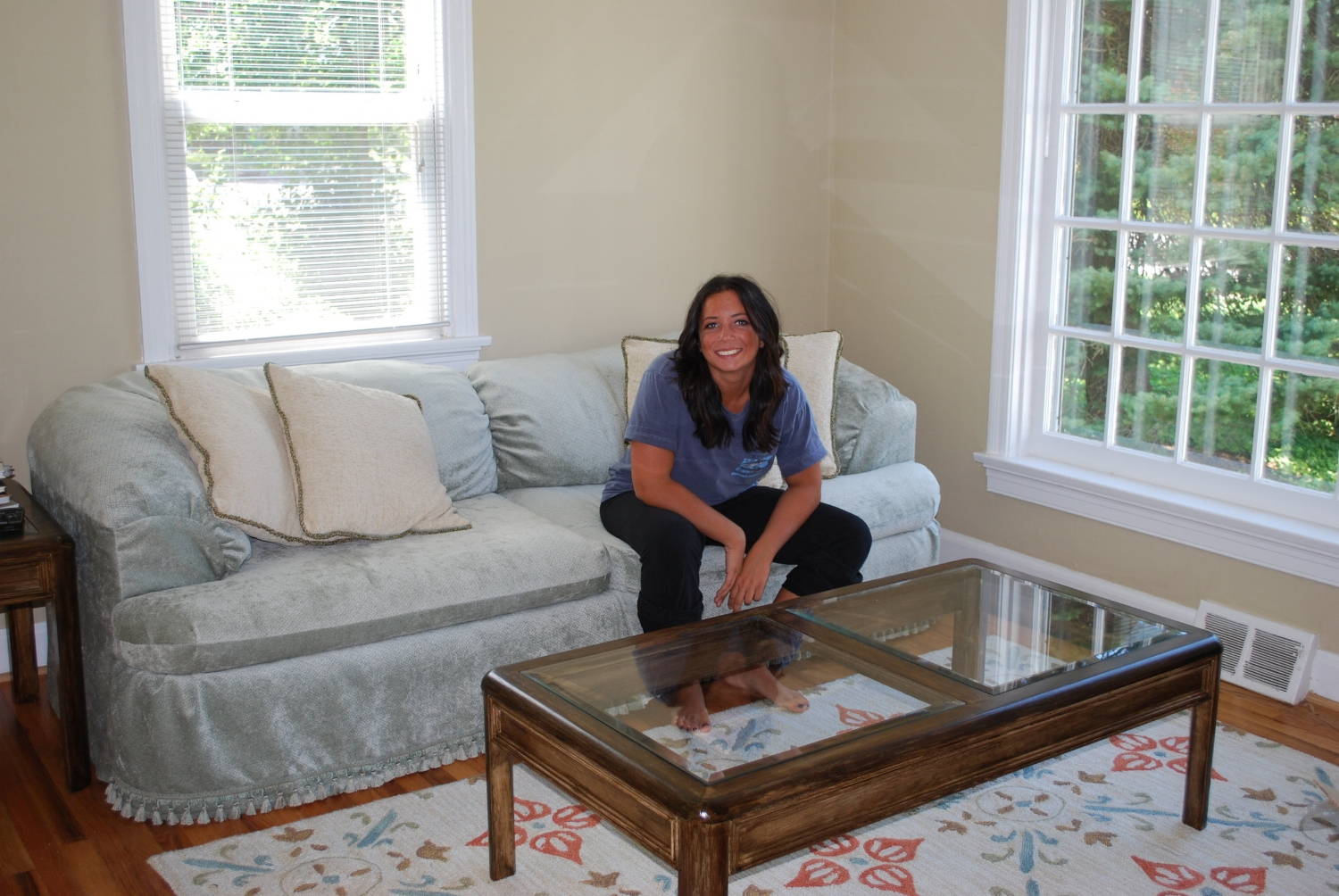They lived on Granite Ave in an adorable little house that could have been featured on HGTV. They refinished the furniture together...while I reupholstered their couches.