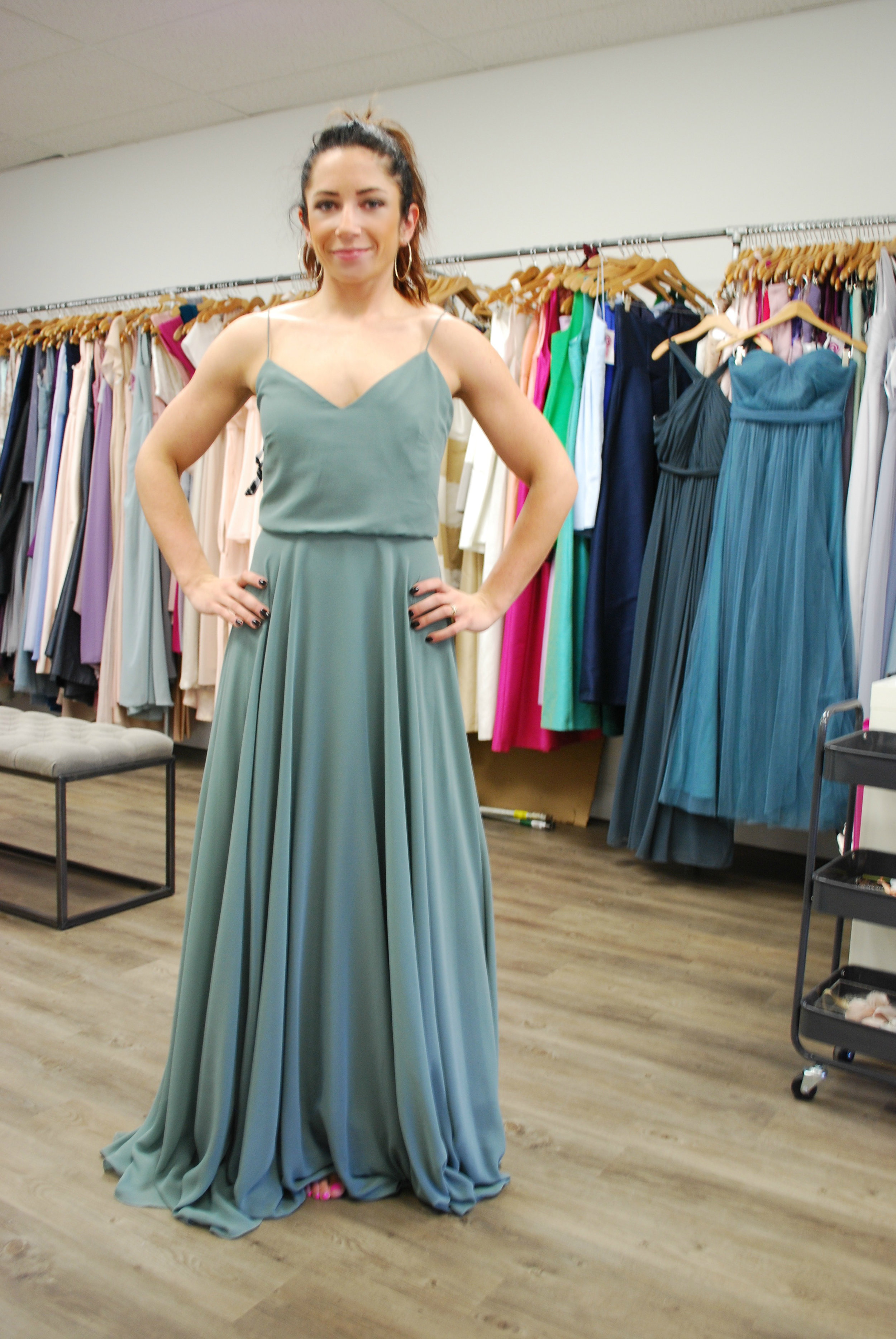 Brielle explored many colors for her fall wedding. She was smart to follow certain colors of other bridal parties on Instagram to see how they would actually photograph before making her decision. Today's designers offer beautiful color selections.