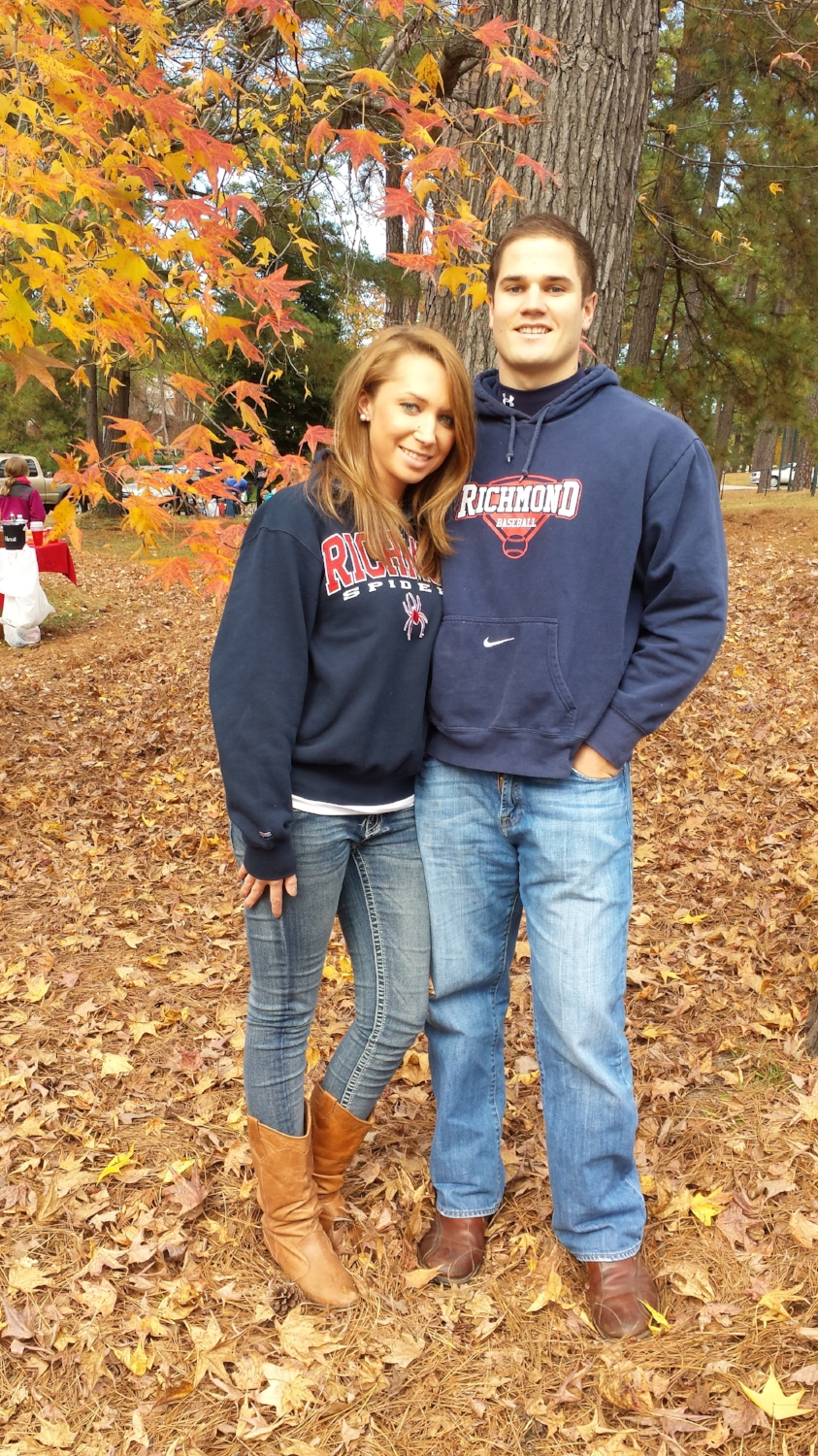 This pic was taken at a Richmond Spiders football game on November 23, 2013. It was our first time meeting Alex. He didn't mind me taking a pic. I liked him already!