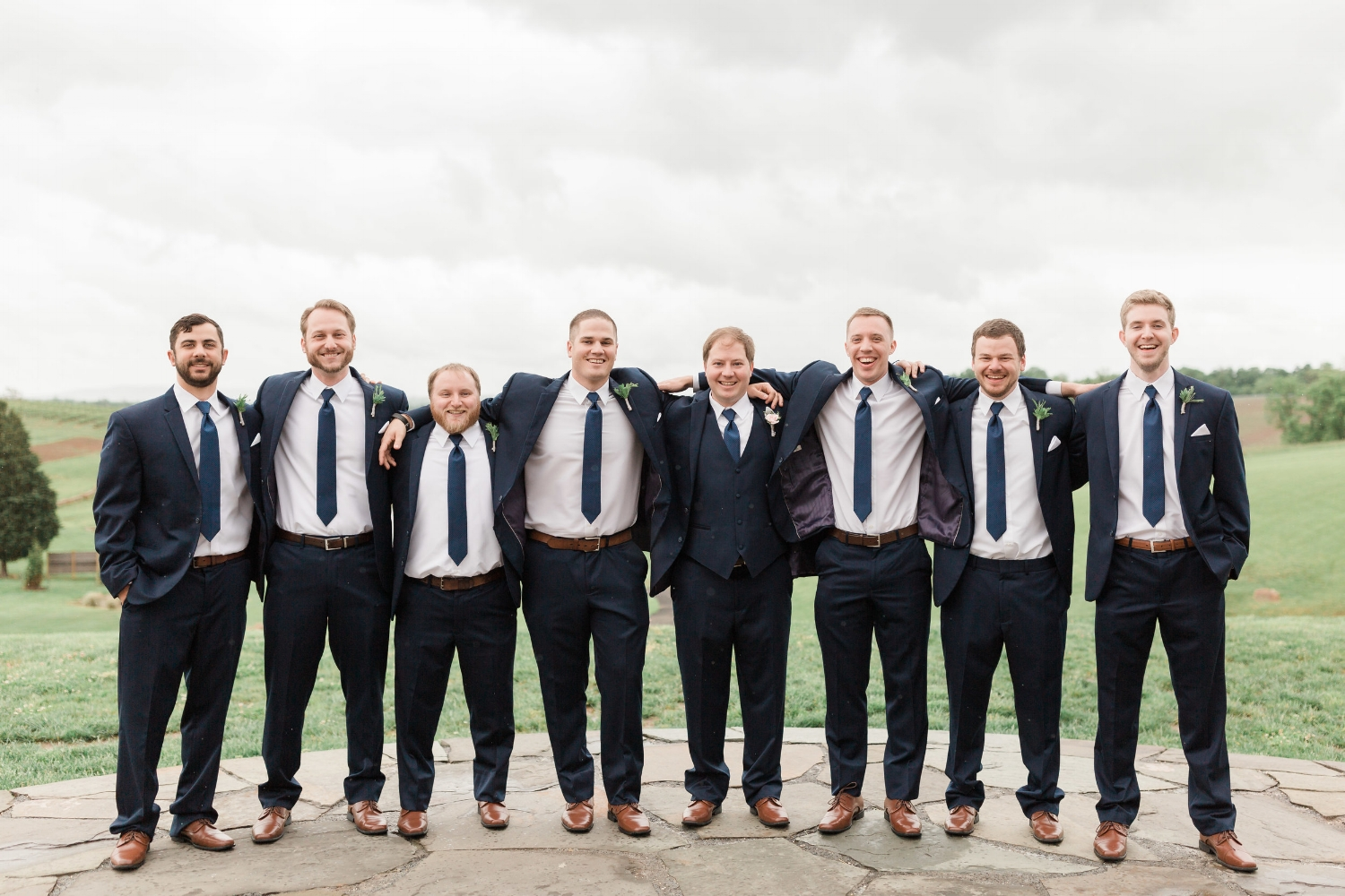 Andrew and his groomsmen ready for the wedding. You couldn't pose this picture!