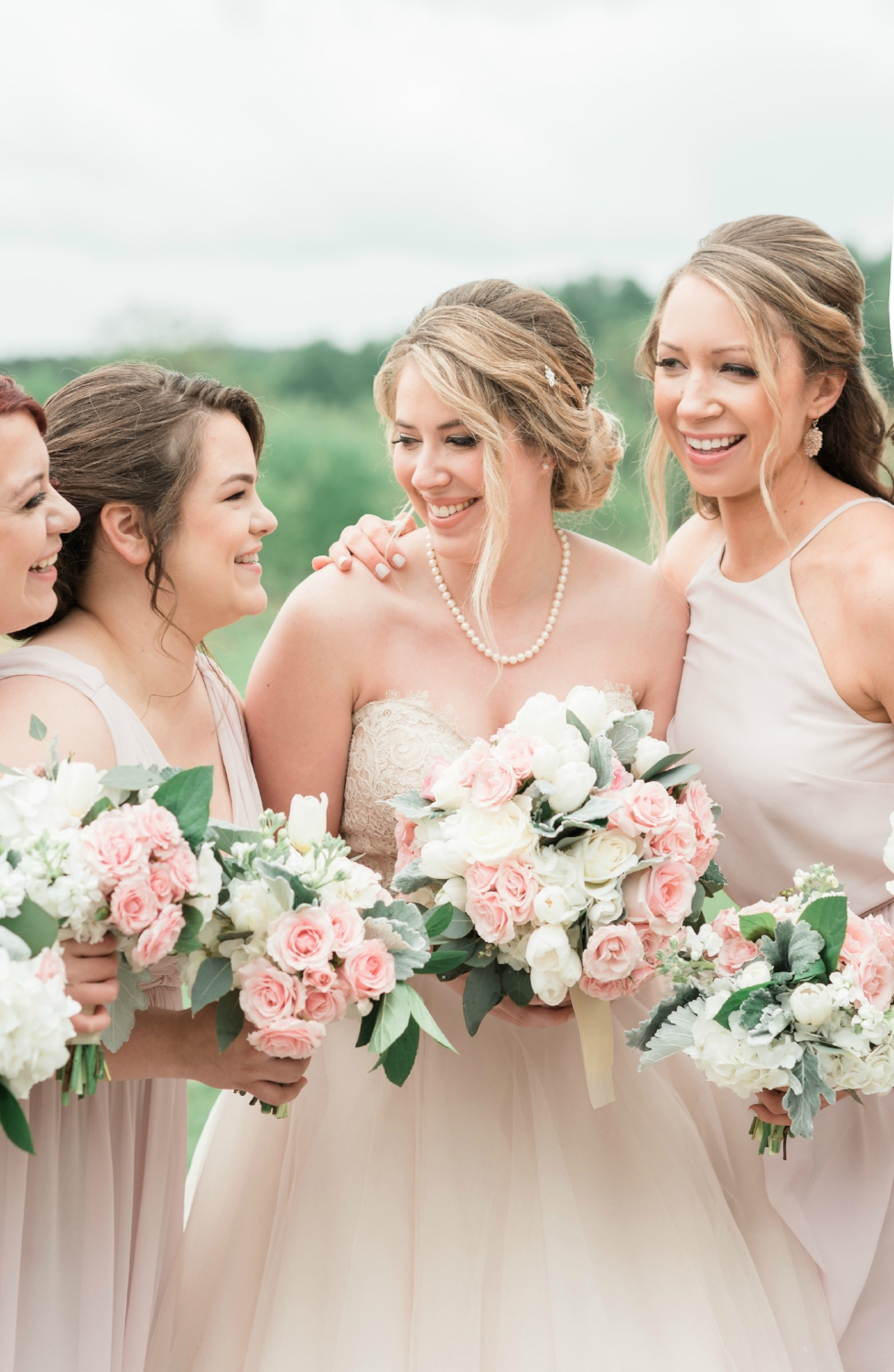 Candace and a few beauties in her bridal party.