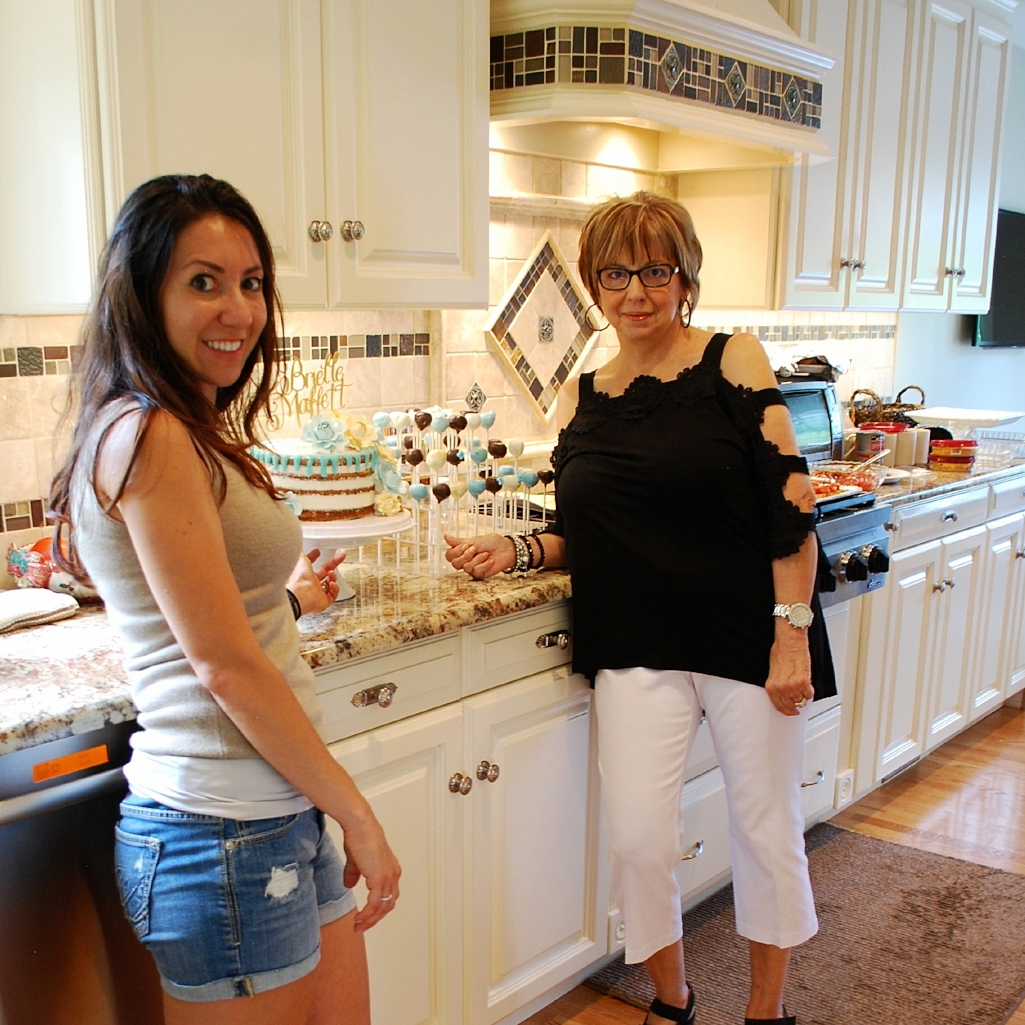 Tina and Dolores prepping for their final dessert display.