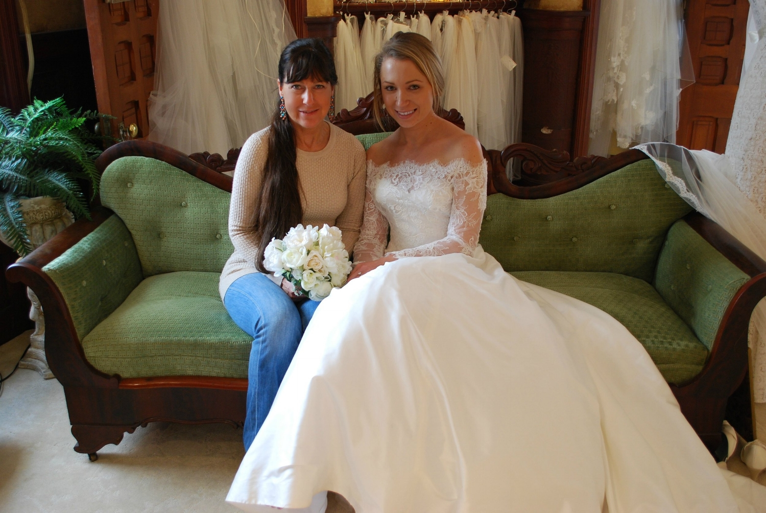 Denise, the owner of Something Bleu Bridal, offered us an amazing personalized experience. She opened her salon after hours for an additional visit to make sure this Virginia bride was absolutely certain about her choice.