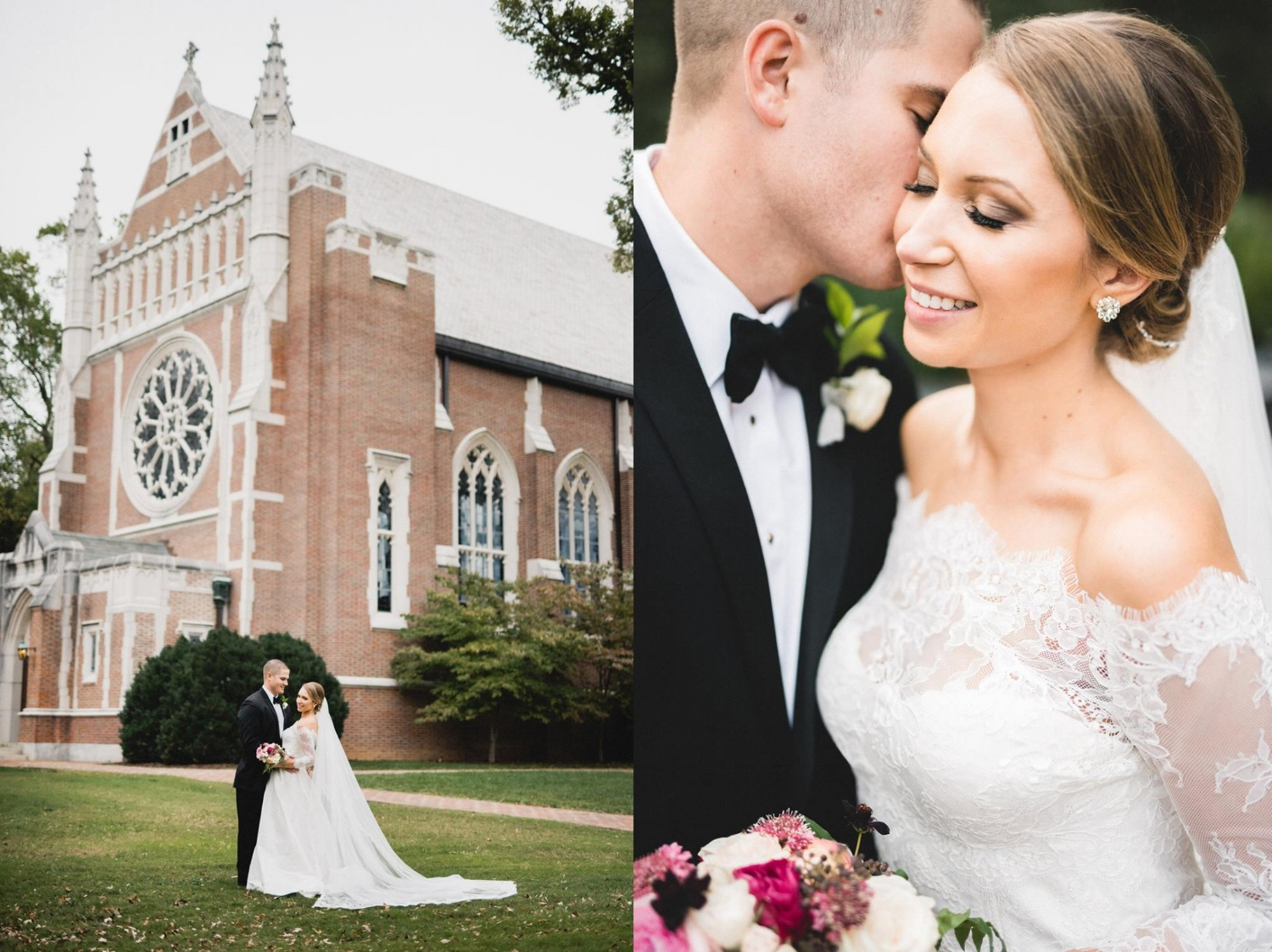 Mr. and Mrs. Alex Maffett at Henry Mansfield Cannon Memorial Chapel, University of Richmond, on October the Fourteenth.   Photography by Allison Kuhn Creative. Allison and Travis have photographed weddings all over the country. They are passionate about traveling, experiencing new things, and expanding their horizons.