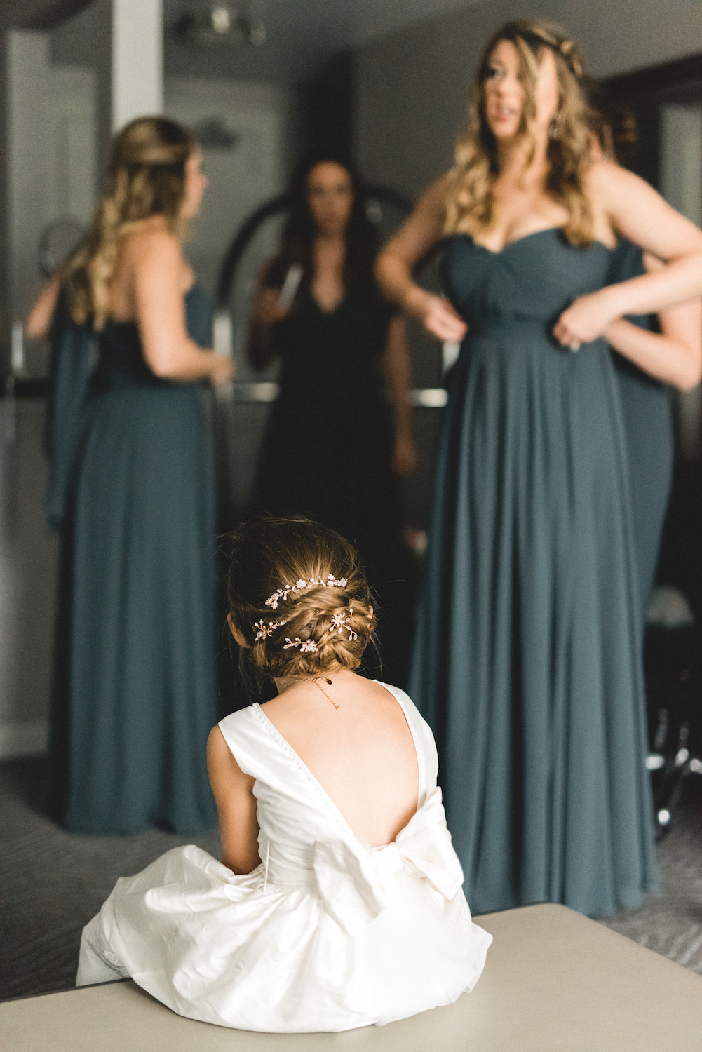 If there was such a thing as a perfect flower girl, Brielle found that in adorable Abbey. She was loving, helpful...and youthfully patient.