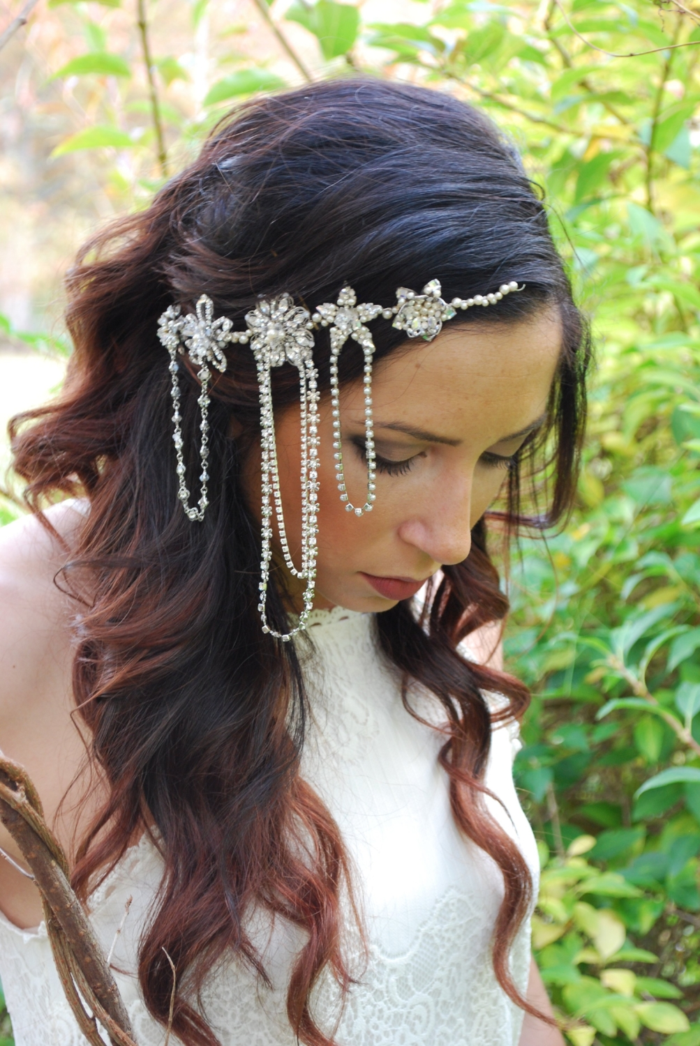 """Mia"" Bridal Headpiece"