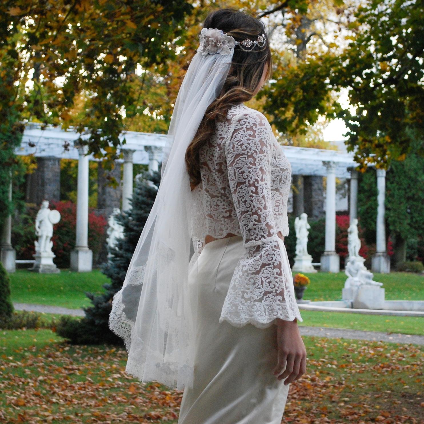 """Lillian"" Bridal Veil"