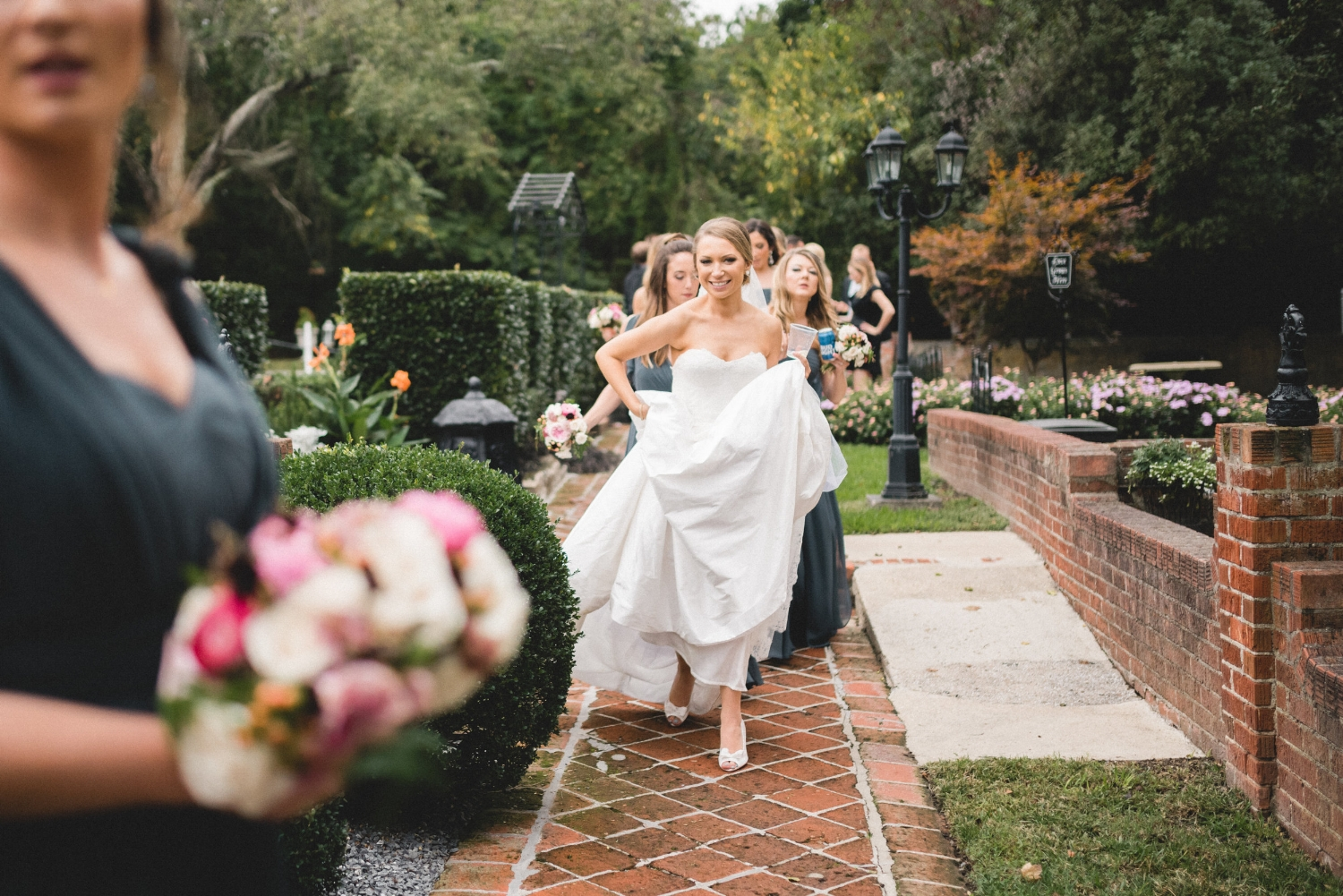 Brielle seemed so happy and ready to celebrate. I think this is the point in the day, for all brides, where time seems to pick up speed. All wish for time to slow down so the moments will be savored for eternity.